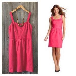 LOFT Pink Grossgrain Trim Bustier Dress